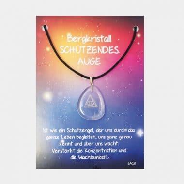 Energie Amulett aus Bergkristall (große Karte) VE=3 - Schützendes Auge VE=3