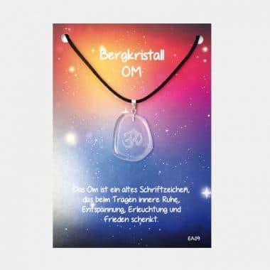Energie Amulett aus Bergkristall (große Karte) VE=3 - Om VE=3