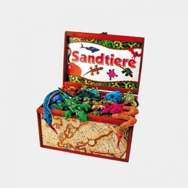 Sandtiere in 28 Designs und Klapperschlange (VE=5) - Sandtierkiste mit 100 Sandtieren