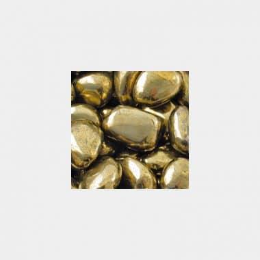 Trommelsteine in 70 Steinsorten (VE=0,5/1kg) - Apachengold VE=1kg