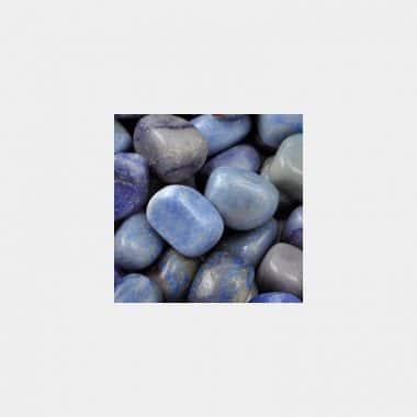 Trommelsteine in 70 Steinsorten (VE=0,5/1kg) - Blauquarz VE=1kg