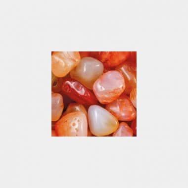 Trommelsteine in 70 Steinsorten (VE=0,5/1kg) - Carneol VE=1kg