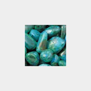 Trommelsteine in 70 Steinsorten (VE=0,5/1kg) - Chrysokoll VE=1kg