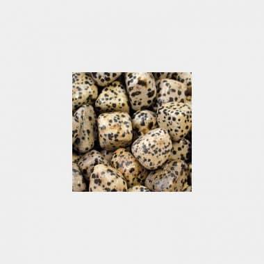 Trommelsteine in 70 Steinsorten (VE=0,5/1kg) - Dalmatinerjaspis VE=1kg