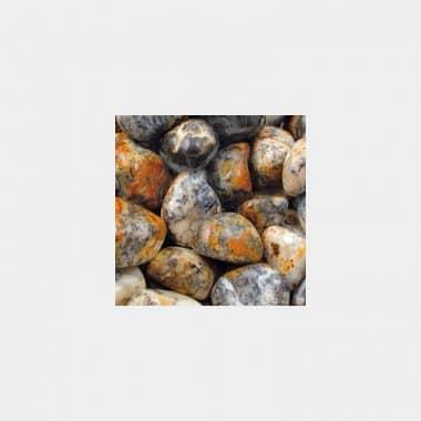 Trommelsteine in 70 Steinsorten (VE=0,5/1kg) - Dentritenopal VE=1kg