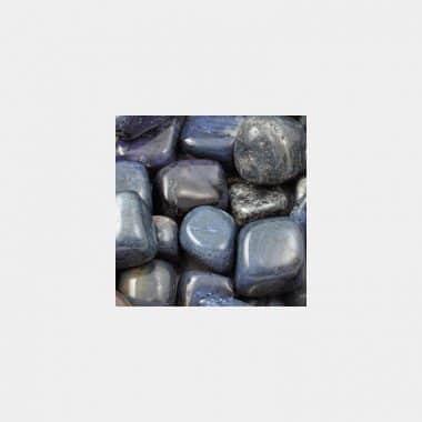 Trommelsteine in 70 Steinsorten (VE=0,5/1kg) - Dumortierit VE=1kg