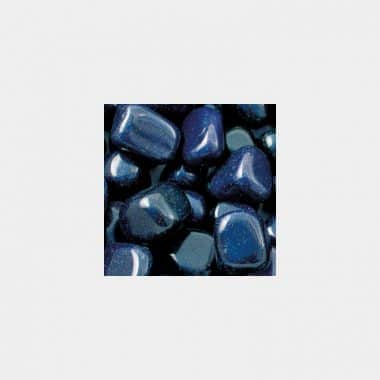 Trommelsteine in 70 Steinsorten (VE=0,5/1kg) - Goldfluss blau VE=1kg