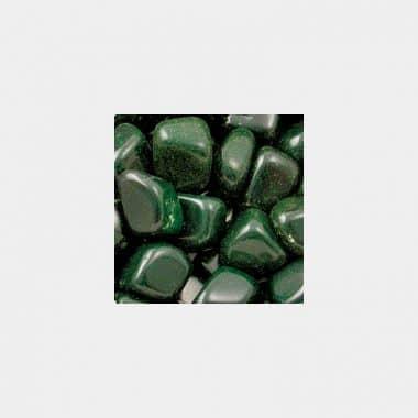 Trommelsteine in 70 Steinsorten (VE=0,5/1kg) - Goldfluss grün VE=1kg