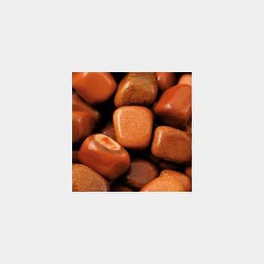 Trommelsteine in 70 Steinsorten (VE=0,5/1kg) - Goldfluss rot VE=1kg