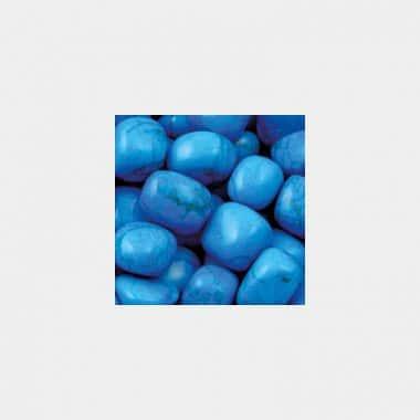 Trommelsteine in 70 Steinsorten (VE=0,5/1kg) - Howlith blau VE=1kg
