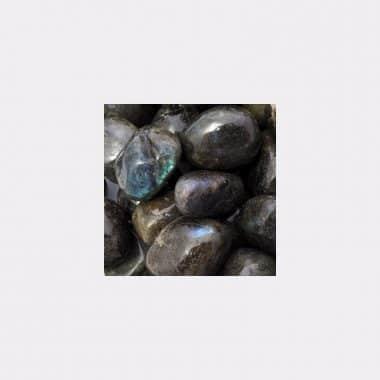 Trommelsteine in 70 Steinsorten (VE=0,5/1kg) - Labradorit VE=1kg