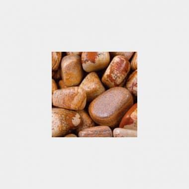 Trommelsteine in 70 Steinsorten (VE=0,5/1kg) - Landschaftsjaspis VE=1kg