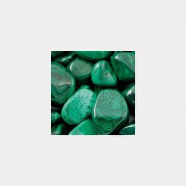 Trommelsteine in 70 Steinsorten (VE=0,5/1kg) - Malachit VE=1kg