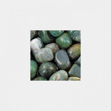 Trommelsteine in 70 Steinsorten (VE=0,5/1kg) - Moosachat VE=1kg