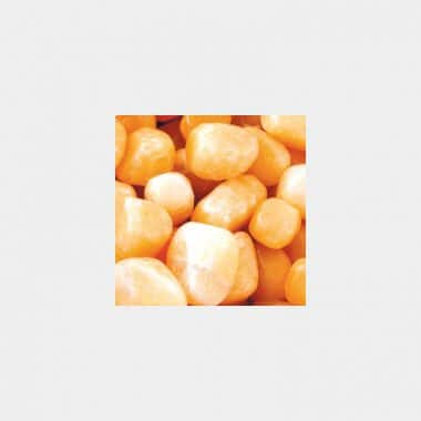 Trommelsteine in 70 Steinsorten (VE=0,5/1kg) - Orangencalzit VE=1kg