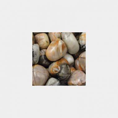 Trommelsteine in 70 Steinsorten (VE=0,5/1kg) - Picassojaspis VE=1kg