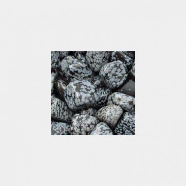 Trommelsteine in 70 Steinsorten (VE=0,5/1kg) - Schneeflockenobsidian VE=1kg