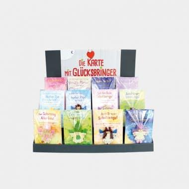 Schutzengel Fair Trade auf großer Karte 12 Designs (VE=4) - Großes Display mit 48 Stück