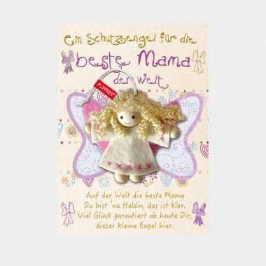 Schutzengel Fair Trade auf großer Karte 12 Designs (VE=4) - 009 Beste Mama VE=4